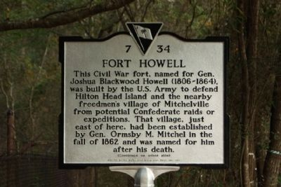 Fort Howell Marker image. Click for full size.