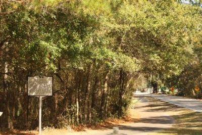 Fort Howell Marker, looking north along Beach City Road image. Click for full size.