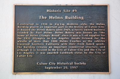 The Helms Building Marker image. Click for full size.