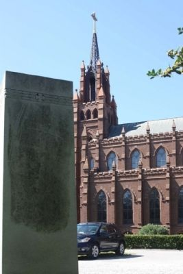 The Most Reverend Emmet Michael Walsh Marker and St John the Baptist Cathedral image. Click for full size.