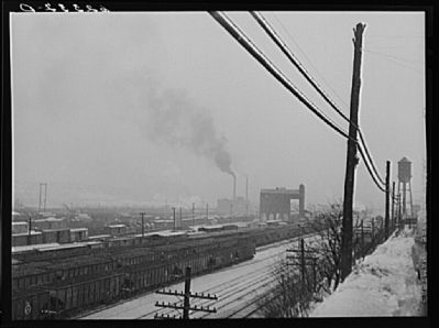 Freight yards. Conway, Pennsylvania image. Click for full size.
