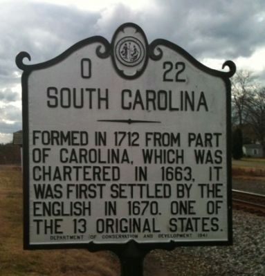 North Carolina/South Carolina Marker Photo, Click for full size
