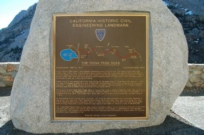 The Tioga Pass Road Marker image. Click for full size.