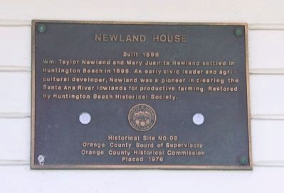 Newland House Marker image. Click for full size.