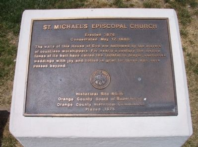 St. Michael's Episcopal Church Marker image. Click for full size.
