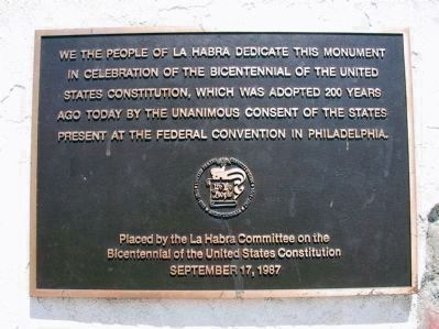 Bicentennial Plaque (<i>Upper Marker</i>) image. Click for full size.