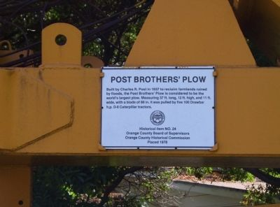 Post Brother's Plow Marker image. Click for full size.