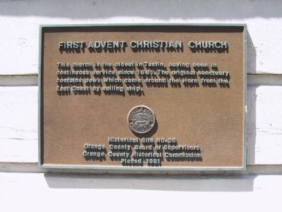 First Advent Christian Church Marker image. Click for full size.