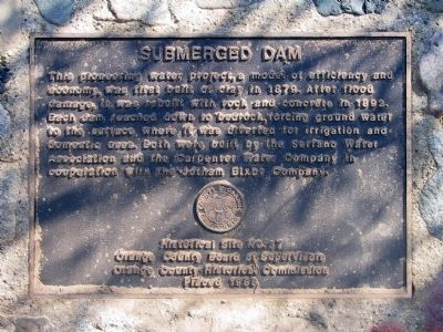Submerged Dam Marker image. Click for full size.