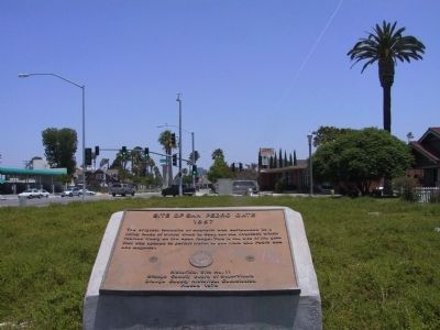 Site of San Pedro Gate Marker image. Click for full size.
