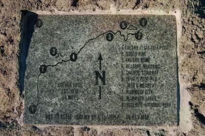 Old French Trail Map Marker Photo, Click for full size