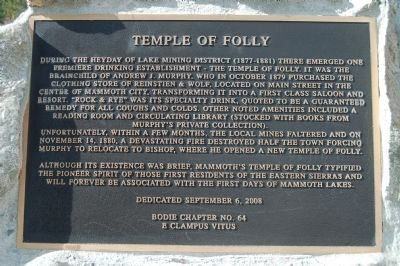 Temple of Folly Marker Photo, Click for full size