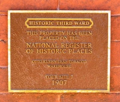 Otto Kuehn Leaf Tobacco Warehouse Marker image. Click for full size.