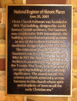 Christ Church Lutheran Marker image. Click for full size.