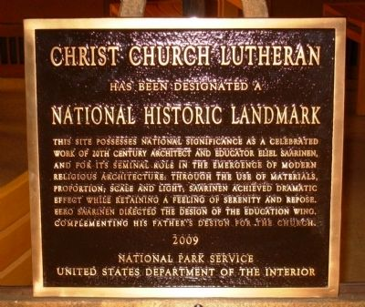 Christ Church Lutheran National Historic Landmark Marker image. Click for full size.