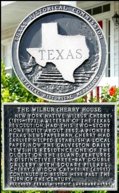 The Wilbur Cherry House Marker image. Click for full size.