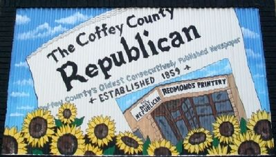 The Coffey County Republican Mural image. Click for full size.