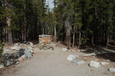 The Mammoth Consolidate Gold Mine Marker Photo, Click for full size