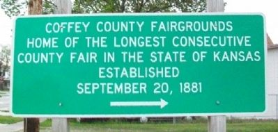 Coffey County Fairgrounds Marker image. Click for full size.