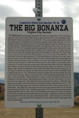 The Big Bonanza Marker image. Click for full size.