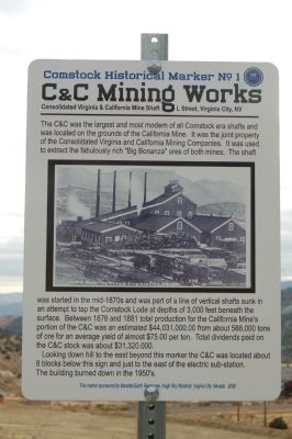 C & C Mining Works Marker image. Click for full size.