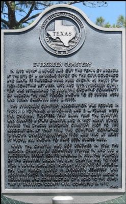 Evergreen Cemetery Marker image. Click for full size.
