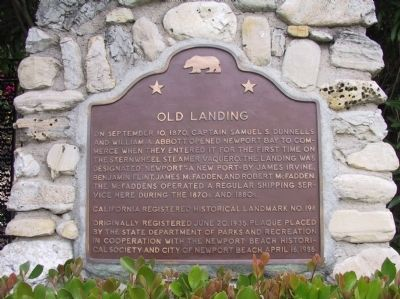 Old Landing Marker image. Click for full size.