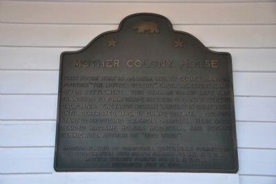 Mother Colony House Marker image. Click for full size.