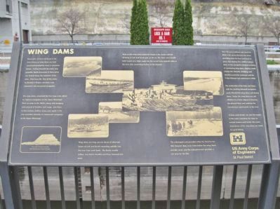 Wing Dams Marker Photo, Click for full size