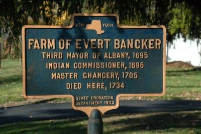 Farm of Evert Bancker Marker image. Click for full size.