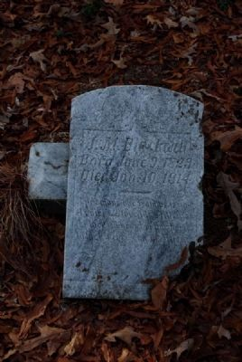 J.M. Blackwell Tombstone image. Click for full size.