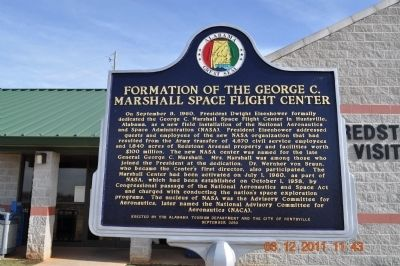 Formation of the George C Marshall Space Flight Center Marker image. Click for full size.