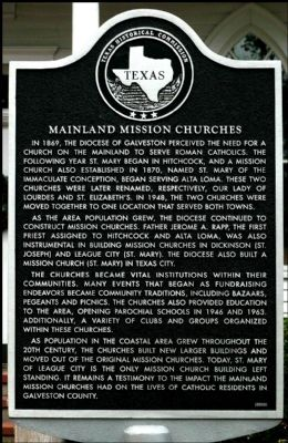 Mainland Mission Churches Marker image. Click for full size.