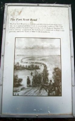 The Fort Scott Road Marker image. Click for full size.