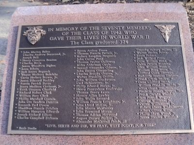 Class of 1942 World War II Deaths Marker image. Click for full size.