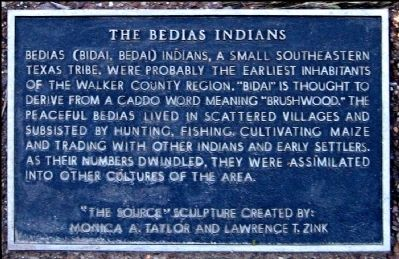 The Bedias Indians Marker Photo, Click for full size