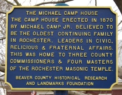 The Michael Camp House Marker image. Click for full size.