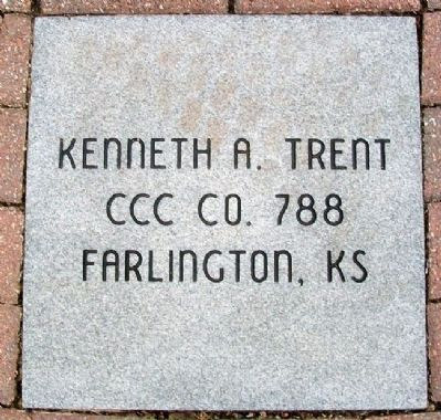 C.C.C. Volunteer Monument Paver image. Click for full size.