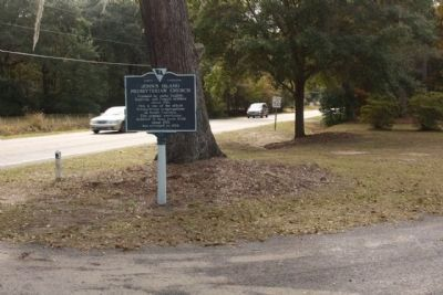 John's Island Presbyterian Church Marker, looking south along Bohicket Road image. Click for full size.