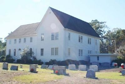 John's Island Presbyterian Church with cemetery image. Click for full size.