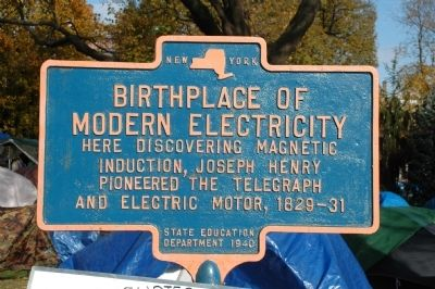 Birthplace of Modern Electricity Marker image. Click for full size.