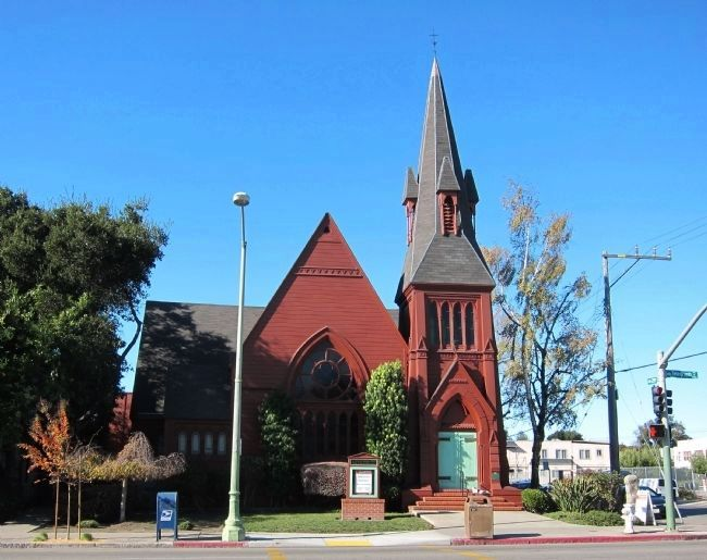 St. Augustine's Episcopal Church - looking west across Telegraph Avenue image. Click for full size.