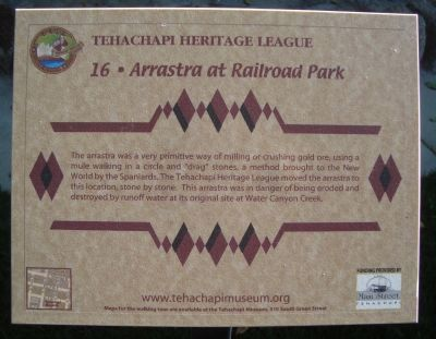 Arrastra at Railroad Park Marker image. Click for full size.