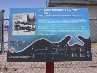 McWilliams' Townsite Marker image. Click for full size.