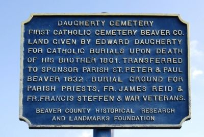 Daugherty Cemetery Marker image. Click for full size.