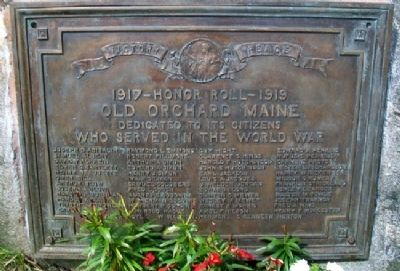 Old Orchard World War Memorial Marker image. Click for full size.