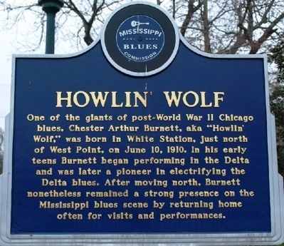 Howlin Wolf Marker (front) image. Click for full size.