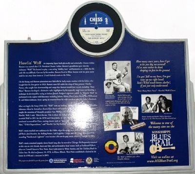 Howlin Wolf Marker (back) image. Click for full size.