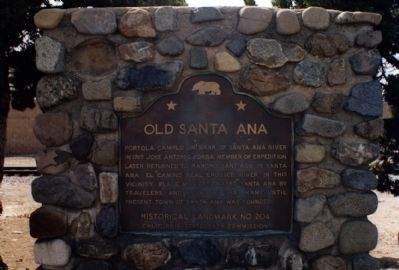 Old Santa Ana Marker image. Click for full size.