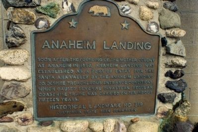 Anaheim Landing Marker Photo, Click for full size